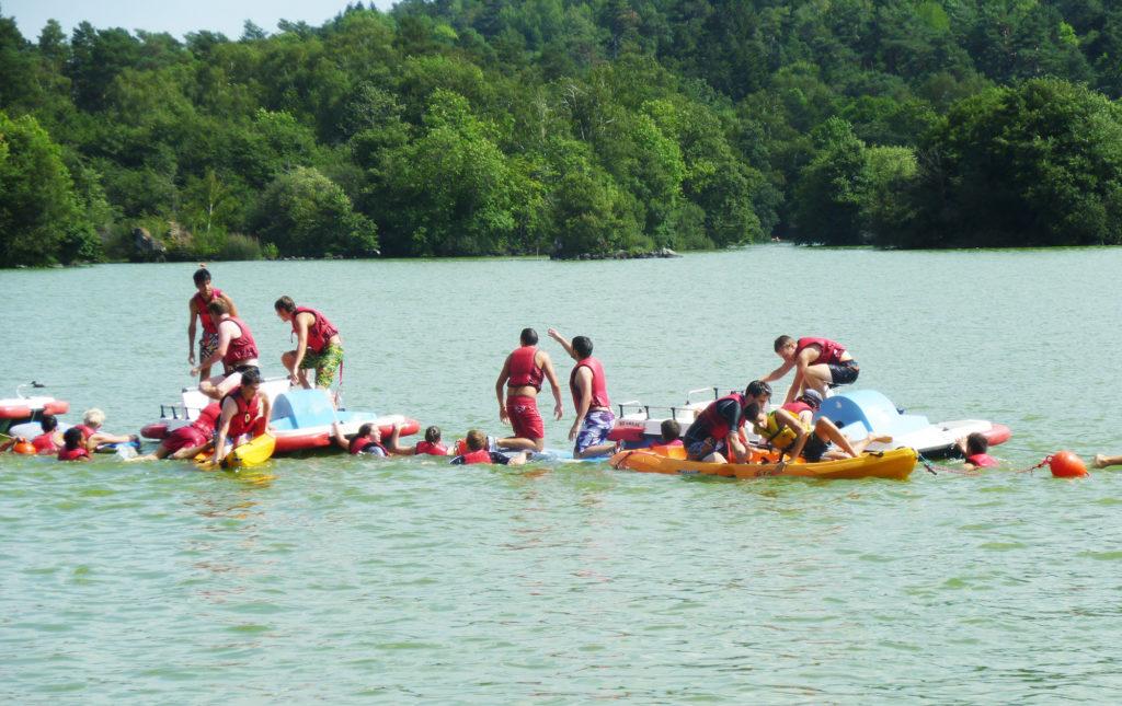 Challenge nautique sur le lac d'Aydat - Polytech©